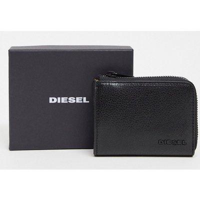 Diesel – l-passme – Geldbörse aus Leder mit Reißverschluss-Schwarz | DIESEL SALE