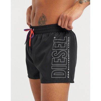 Diesel – Sandy – Badeshorts mit Logo-Schwarz