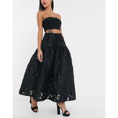 Dream Sister Jane organza smock maxi skirt in black coord