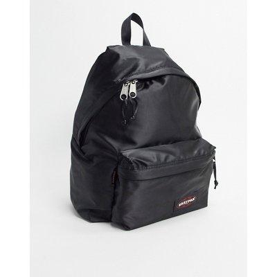 Eastpak – Gepolsterter Rucksack aus schwarzem Satin