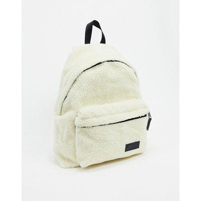 Eastpak – Padded Pak'r – Backpack aus Teddyplüsch-Weiß