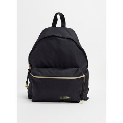 Eastpak – Pak'r – Wattierter Backpack mit Golddetail-Schwarz