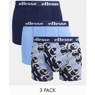 ellesse – 3er-Pack Boxershorts in Blau und Marineblau-Mehrfarbig | ELLESSE SALE