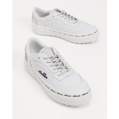 Ellesse – Alzina – Flache Sneaker mit dicker Sohle in Weiß-Grau | ELLESSE SALE