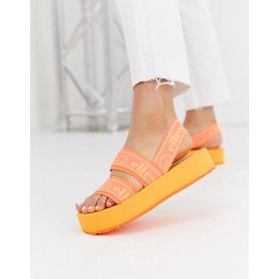 Ellesse – Giglio – Flatform-Sandalen in Orange mit Logo | ELLESSE SALE