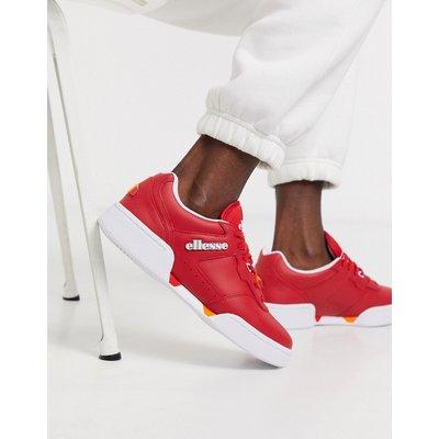 ELLESSE Ellesse – Piacentino – Sneaker aus Leder in Rot und Weiß