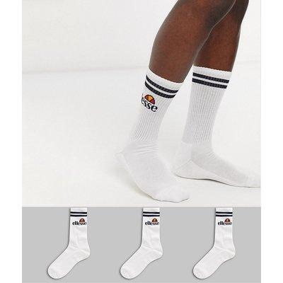 Ellesse – Sportsocken in Weiß, 3er-Pack