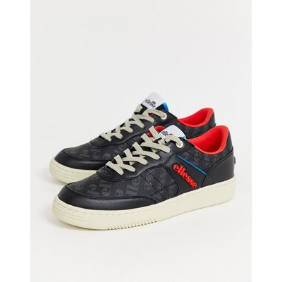 Ellesse – Vinitziana – Sneaker in Schwarz/Rot
