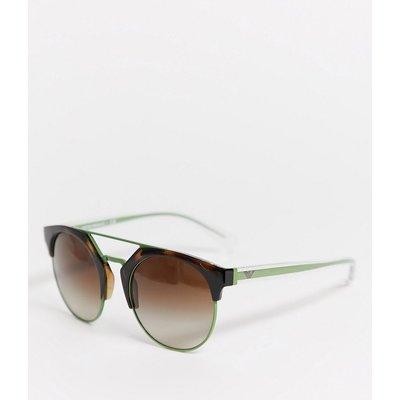 Emporio Armani – 0EA4092 – Runde Sonnenbrille-Braun