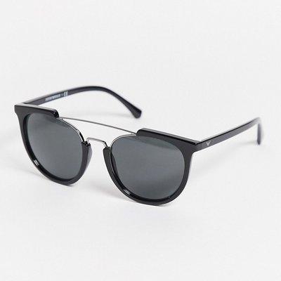 Emporio Armani – 0EA4122 – Sonnenbrille mit Zierausschnitten-Schwarz