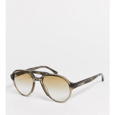 Emporio Armani – 0EA4128 – Sonnenbrille mit doppeltem Nasensteg-Braun