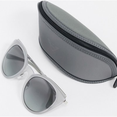 Emporio Armani – Cat-Eye-Sonnenbrille in Grau