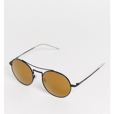 Emporio Armani – EA2061 – Runde Sonnenbrille-Gold