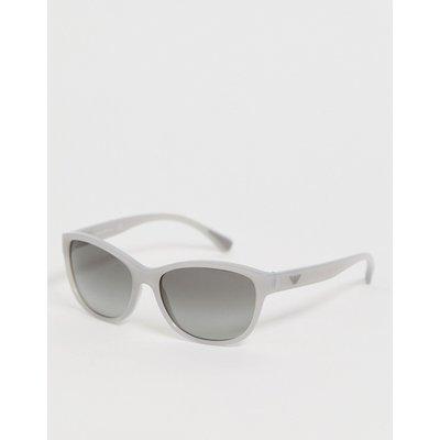 Emporio Armani – Eckige, graue Sonnenbrille
