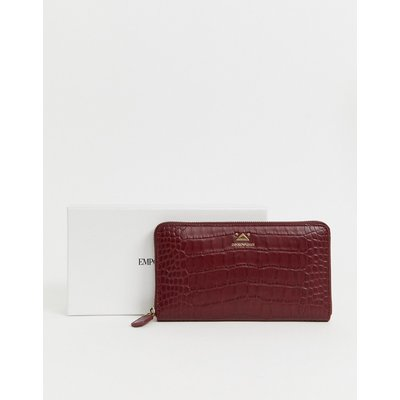 Emporio Armani – Portemonnaie mit Rundum-Reißverschluss-Rot