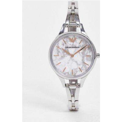 Emporio armani – Silberfarbene Armbanduhr