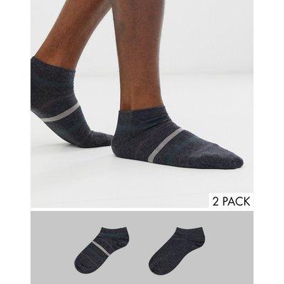 Emporio Armani – Sneakersocken im 2er-Pack-Grau