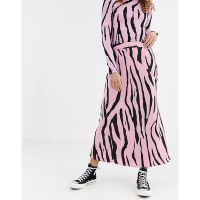 Fabienne Chapot Claire zebra print midi skirt-Pink