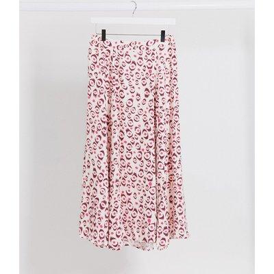 Fabienne Chapot Megan lou leopard print midi skirt-Pink