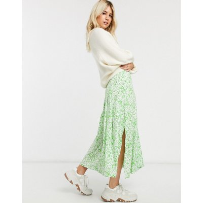 Faithfull cuesta floral midi skirt-Green