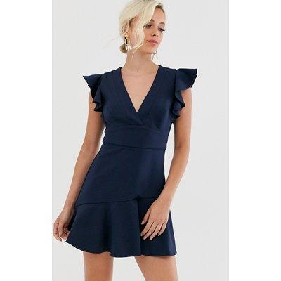 Forever New peplum dress in navy