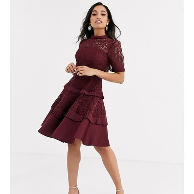 Forever New Petite prom dress in burgundy-Red