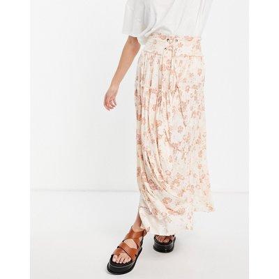Free People magnetic meadows maxi skirt in vintage floral-Multi