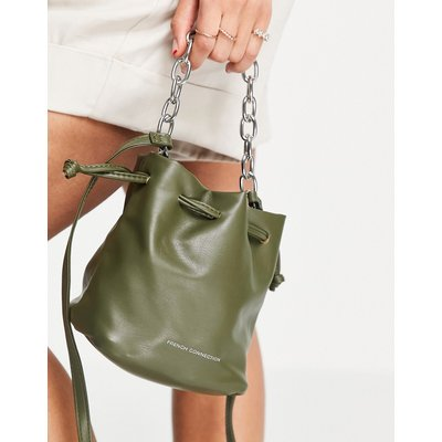 French Connection – Beuteltasche in Khaki-Orange   FRENCH CONNECTION SALE