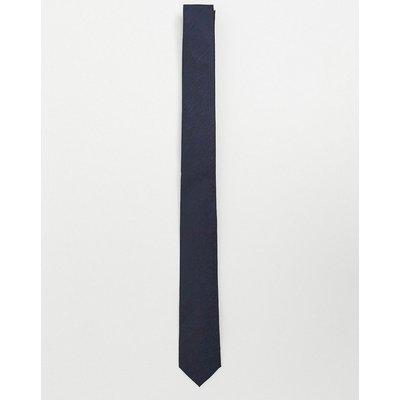 French Connection – Einfarbige Krawatte in Marine-Navy