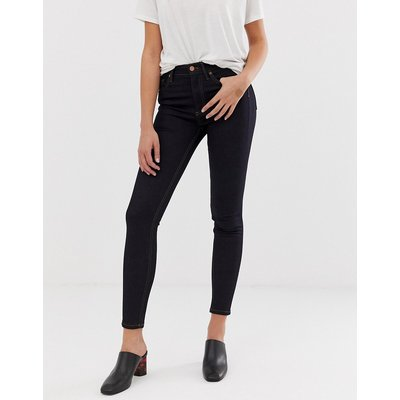 French Connection – Enge Thermal-Jeans mit hohem Bund-Navy