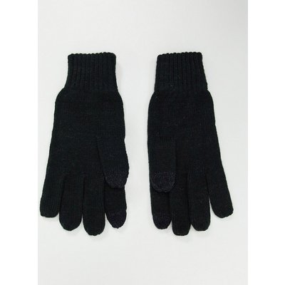French Connection – FCUK – Mix & Match – Touchscreen-Handschuhe mit Logo-Schwarz