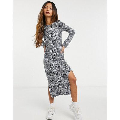 French Connection – Figurbetontes, mehrfarbiges Midikleid aus Jersey mit Print   FRENCH CONNECTION SALE