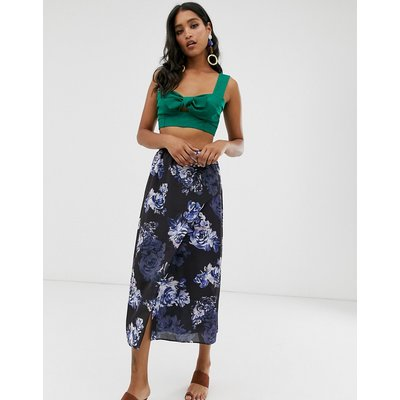 French Connection floral maxi skirt-Blue
