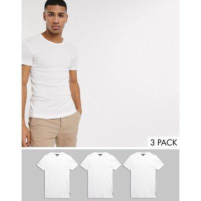 French Connection – Freizeit-T-Shirts im 3er-Pack-Weiß