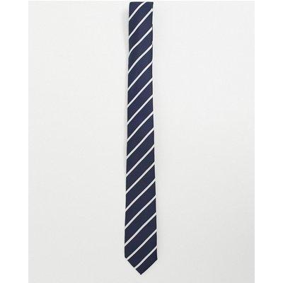 French Connection – Gestreifte Krawatte-Navy