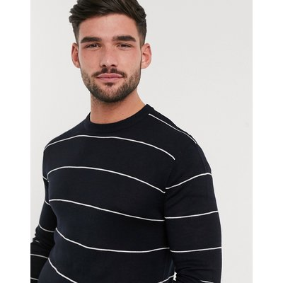 French Connection – Gestreifter Strickpullover-Navy