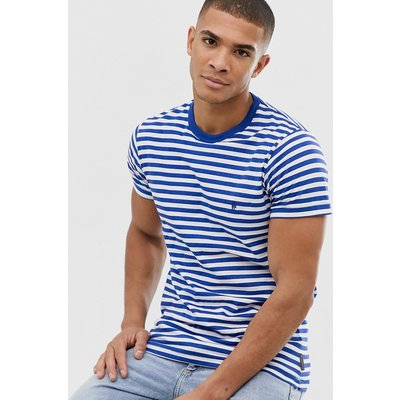 French Connection – Gestreiftes T-Shirt-Blau