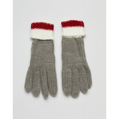French Connection – Handschuhe mit Farbblockdesign-Grau