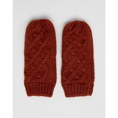 FRENCH CONNECTION French Connection – Handschuhe mit Zopfmuster-Kupfer