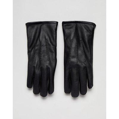 French Connection – Klassische Handschuhe aus schwarzem Leder