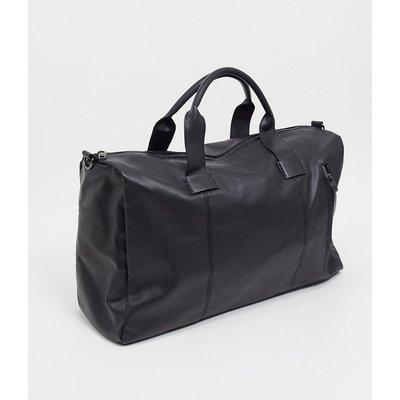 French Connection - Klassische Holdall-Tasche aus schwarzem Kunstleder