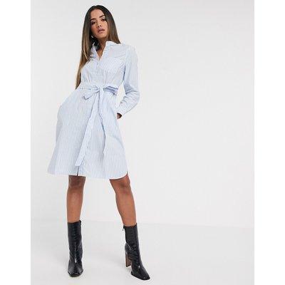 French Connection – Leondra – Gestreiftes Baumwollkleid mit Gürtel-Mehrfarbig