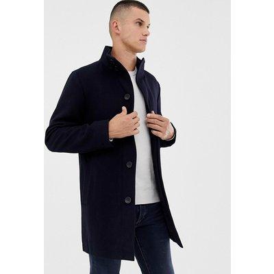 French Connection – Mantel aus Wollmischung mit Stehkragen-Navy