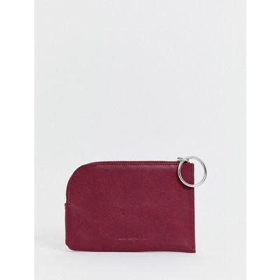 French Connection – Oakley – Ledergeldbörse mit rundem Reißverschluss-Zipper-Rot
