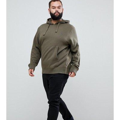 French Connection – PLUS – Basic-Kapuzenpullover zum Überstülpen mit Logo-Grün