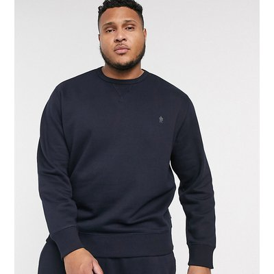 French Connection Plus – Essentials – Sweatshirt mit Logo-Navy