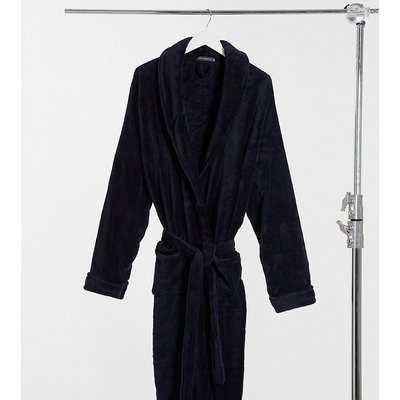 French Connection Plus – Fleece-Morgenmantel in Marine-Navy