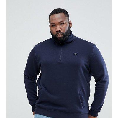 French Connection PLUS – Sweatshirt mit halbem Reißverschluss-Navy