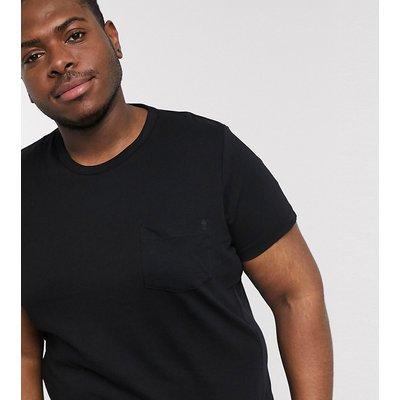 French Connection Plus – T-Shirt aus Bio-Baumwolle-Schwarz