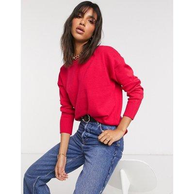French Connection – Pullover in Rosa mit überschnittenen Schultern